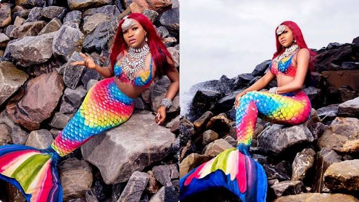 Ex-BBNaija Star, Thelma Is A Mermaid In Her 28th Birthday Photoshoots 1