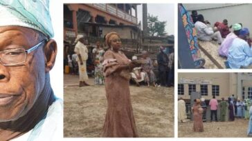 Obasanjo Observes COVID-19 Protocol At Mother-In-Law's Burial, Shuts Out His Associates [Photos] 1