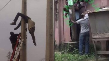 Electrician Gets Electrocuted To Death While Working On A Pole In Lagos State [Video] 3