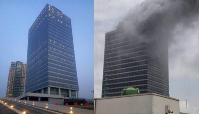 Fire Razes Top Floor Of World Trade Centre Building In Abuja [Video] 1