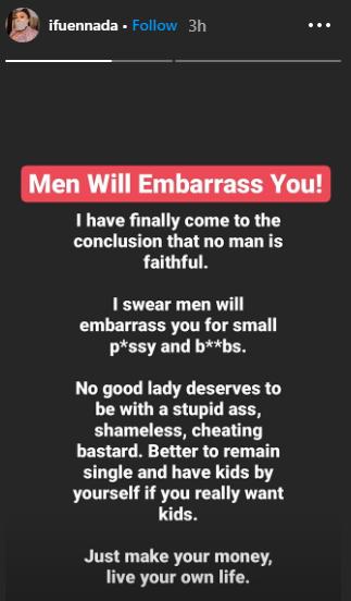 """No Man Is Faithful"" - BBNaija's Ifu Ennada Advises Women To Remain Single And Have Kids 2"