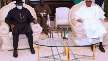 President Buhari Meets Goodluck Jonathan Behind Closed Door To Discuss The Crisis Rocking Mali 5