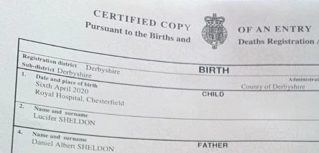 Couple Names Their Son 'Lucifer' Despite Objections From Registrar Over Satanic Connotations 2