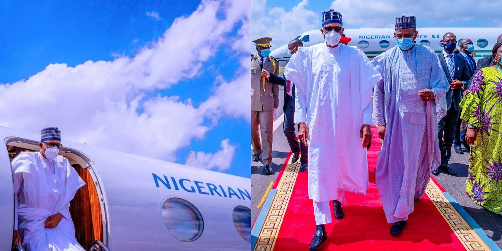 President Buhari Returns To Abuja After His 'Peace Mission' Trip To Mali 1