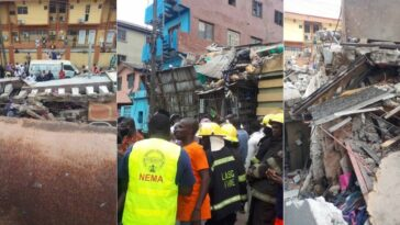 Many Feared Dead As Three-Storey Building Collapses In Ebute-Metta Area Of Lagos [Photos/Video] 9