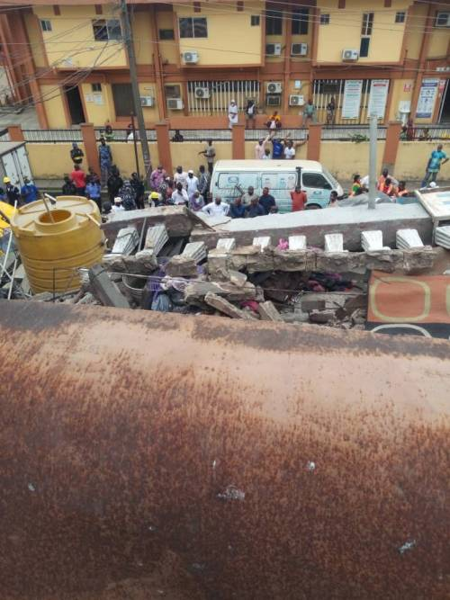 Many Feared Dead As Three-Storey Building Collapses In Ebute-Metta Area Of Lagos [Photos/Video] 1