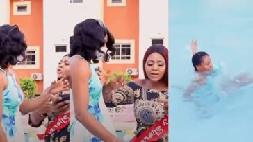 Watch The Moment Regina Daniels Angrily Pushes Her Staff Into Swimming Over An Argument [Video] 3