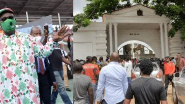 Edo Guber: Many Injured As APC, PDP Thugs Clash During Obaseki's Campaign At Oba Palace 5
