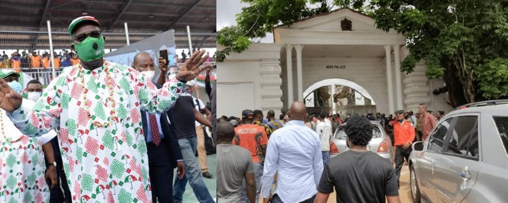 Edo Guber: Many Injured As APC, PDP Thugs Clash During Obaseki's Campaign At Oba Palace 1