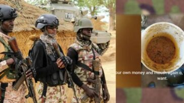 Nigerian Soldiers Lament Poor Feeding, Accuse Commanding Officer Of Embezzling Funds [Video] 4