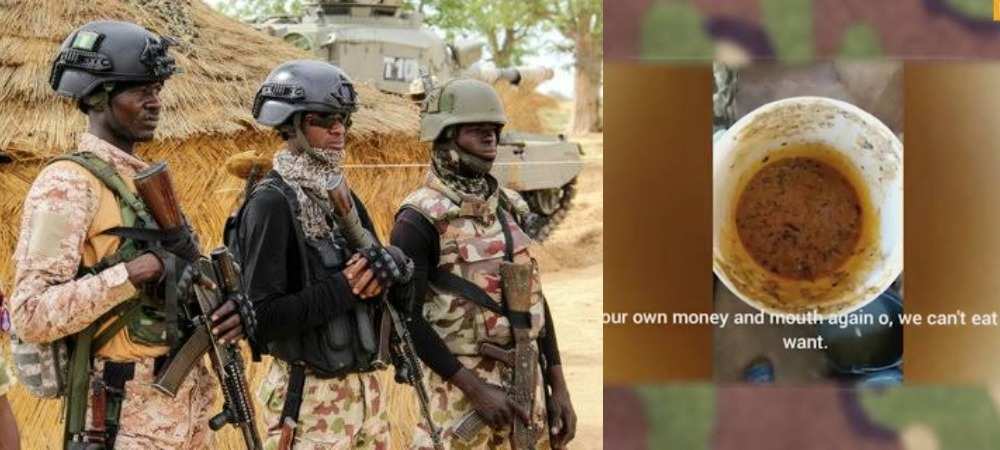 Nigerian Soldiers Lament Poor Feeding, Accuse Commanding Officer Of Embezzling Funds [Video] 1