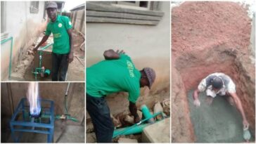 Nigerian Man Builds Soakaway Toilet That Can Generate Gas For Cooking And Electricity [Photos] 10