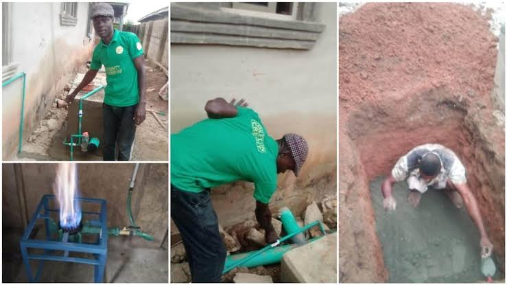 Nigerian Man Builds Soakaway Toilet That Can Generate Gas For Cooking And Electricity [Photos] 1