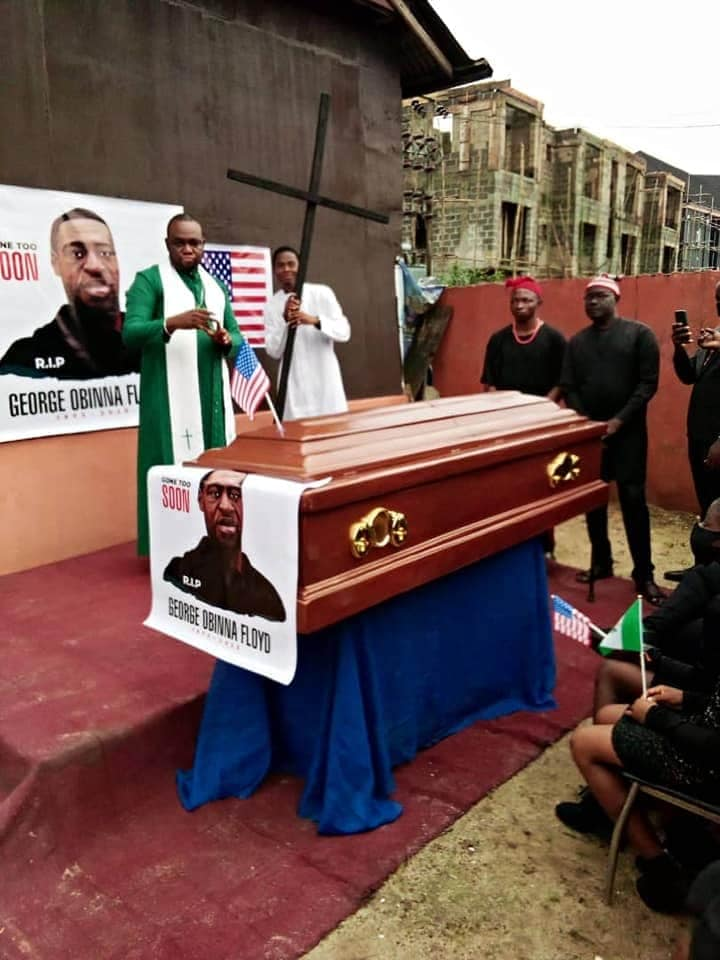 Nigerian Pastor Re-Buries George 'Obinna' Floyd In Imo State [Photos] 6