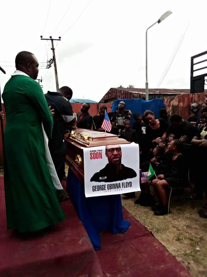 Nigerian Pastor Re-Buries George 'Obinna' Floyd In Imo State [Photos] 4