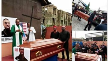 Nigerian Pastor Re-Buries George 'Obinna' Floyd In Imo State [Photos] 3