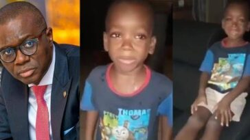 Governor Sanwo-Olu Requests To Meet Little Boy Who Asked His Mom To 'Calm Down' In Viral Video 5