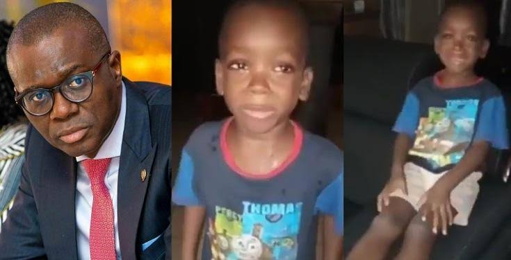 Governor Sanwo-Olu Requests To Meet Little Boy Who Asked His Mom To 'Calm Down' In Viral Video 1