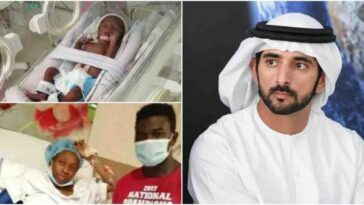 Dubai Prince Settles Hospital Bill Of Stranded Nigerian Couple Who Gave Birth To Quadruplets [Photos] 9