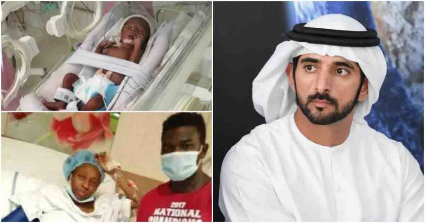 Dubai Prince Settles Hospital Bill Of Stranded Nigerian Couple Who Gave Birth To Quadruplets [Photos] 1