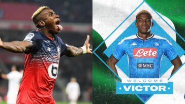 Napoli Announces Signing Of Nigerian Striker, Victor Osimhen From Lille 4