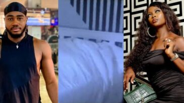 BBNaija: Praise And Ka3na Caught On Camera Having Sεx Under The Duvet Live On TV [Video] 2