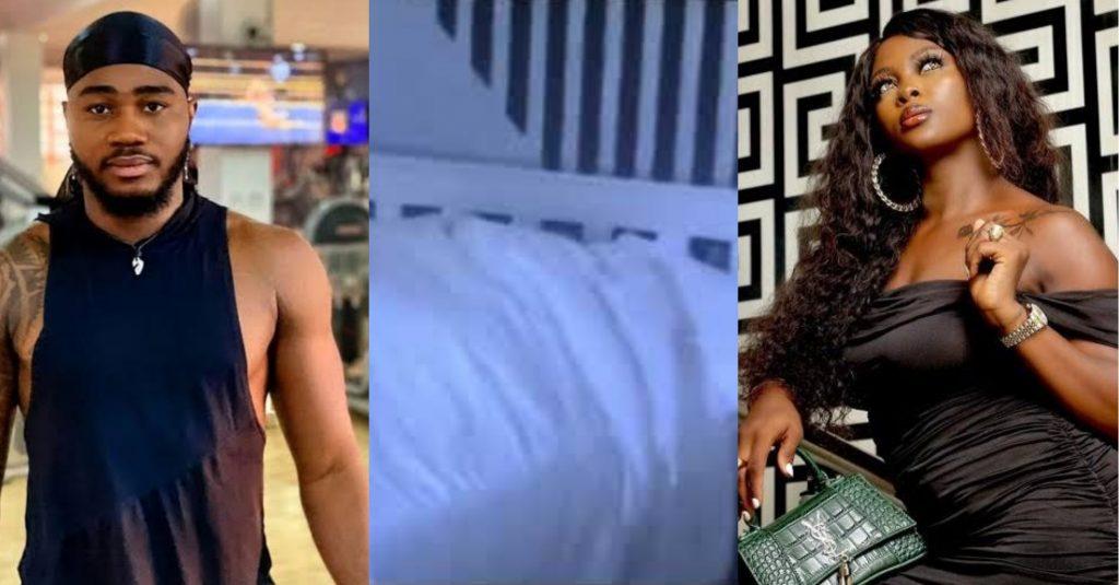 BBNaija: Praise And Ka3na Caught On Camera Having Sεx Under The Duvet Live On TV [Video] 1