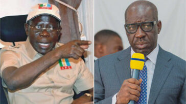 "Edo Guber Election: ""If You Want Violence, We Will Give You"" – Oshiomhole Warns Obaseki, PDP 8"