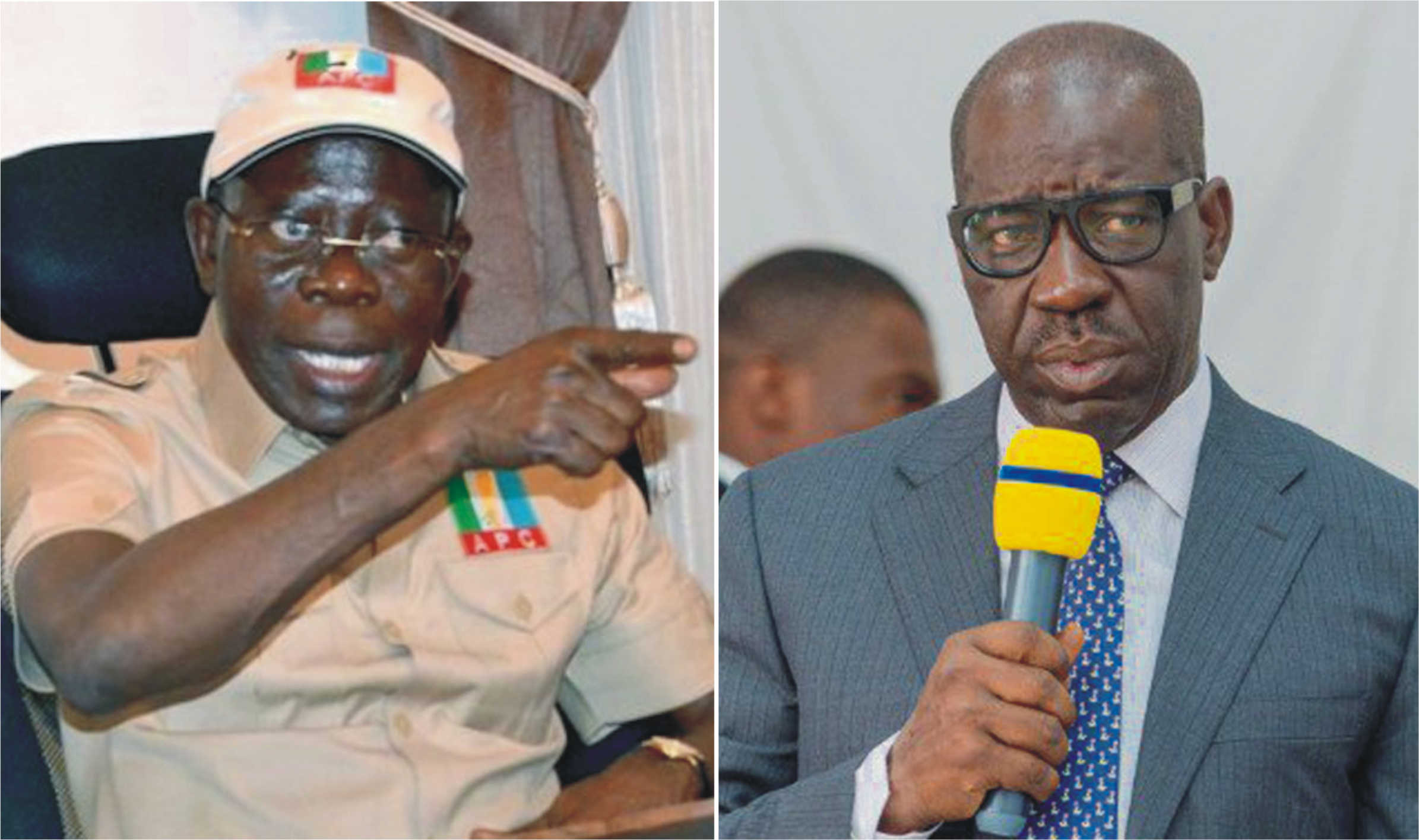 "Edo Guber Election: ""If You Want Violence, We Will Give You"" – Oshiomhole Warns Obaseki, PDP 1"