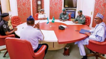 "Insecurity: ""You Are Doing Your Best As Far As I'm Concerned"" - Buhari Tells Service Chiefs 7"