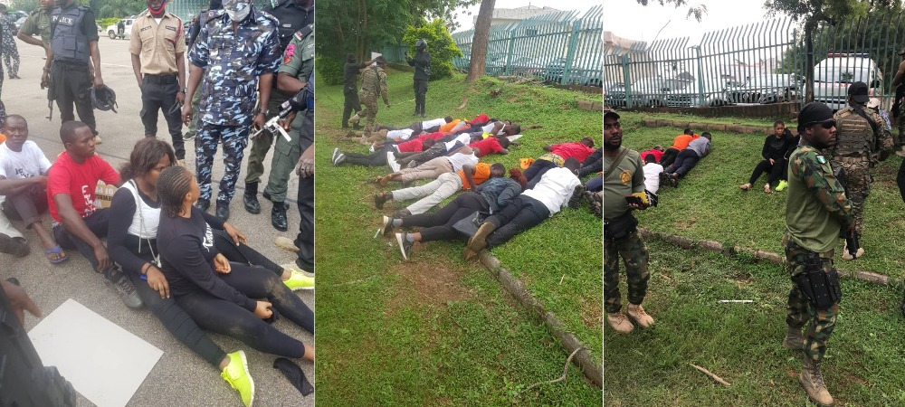 RevolutionNow: Over 60 Protesters Arrested And Subjected To Inhuman Treatment In Abuja [Photos] 1