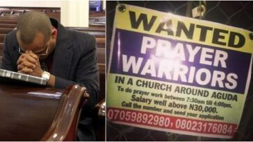 Lagos Church Wants Unemployed Nigerians To Apply For Prayer Warrior Job For N30,000 Salary 11