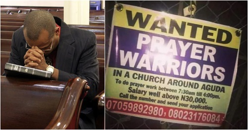 Lagos Church Wants Unemployed Nigerians To Apply For Prayer Warrior Job For N30,000 Salary 1