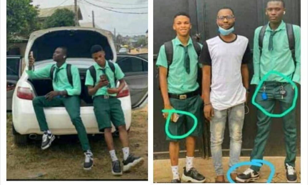 Benefitboys: SS3 Students Resumes School In Posh Car & With iPhone, Embarrasses Their Teacher [Video] 1