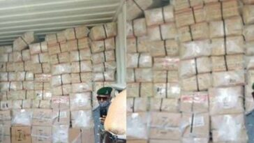 Police Intercept 40-Foot Container Filled With Drugs, Tramadol And Codeine In Lagos [Photos] 1