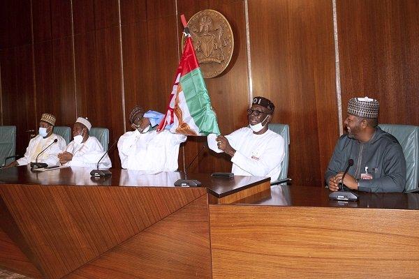 President Buhari Endorses Pastor Ize-Iyamu For Edo Governorship, Hands Over APC Flag [Photos] 3