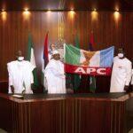 President Buhari Endorses Pastor Ize-Iyamu For Edo Governorship, Hands Over APC Flag [Photos] 27