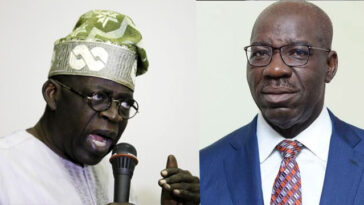 Tinubu Attacks Obaseki, Says He's An Errant Governor, Dictator, Contemptuous Of Edo People 3