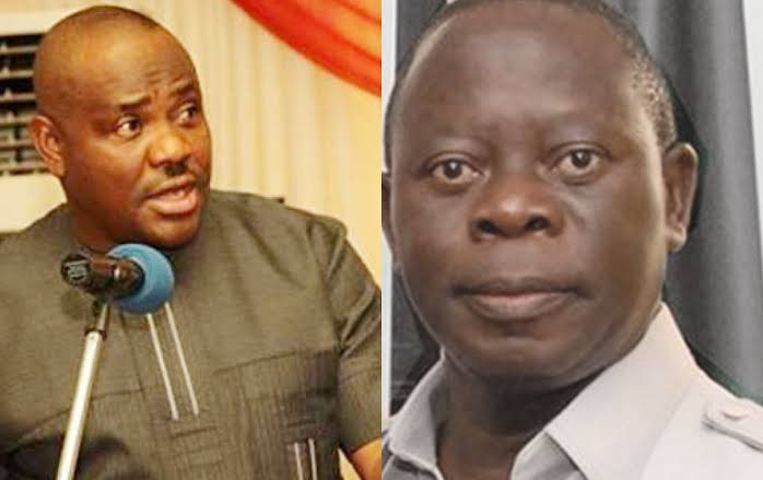 """""""Edo People Are Better With Obaseki Than A Cultist And Fake Pastor"""" — Wike Blasts Oshiomhole 1"""