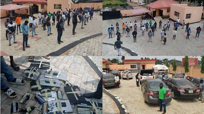 EFCC Arrests 3 NYSC Corp Members, 19 Undergraduates, 10 Others For Internet Fraud In Ibadan 1