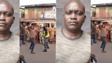 Dismissed Soldier Caught On Camera Publicly Beating Up Policewoman In Lagos Traffic [Video] 2