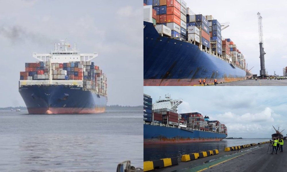 Biggest Container Vessel To Ever Come To Nigeria Berths At Onne Port In Rivers State [Photos] 1