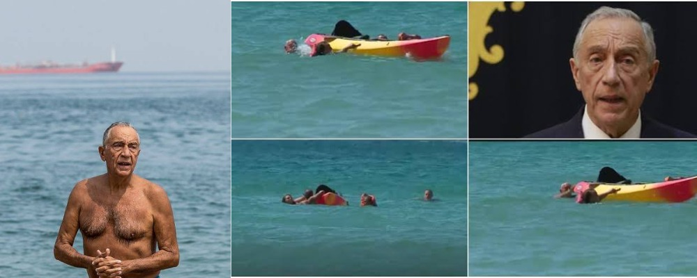 71-Year-Old Portugal President, Marcelo Rebelo Rescues Two Women From Drowning In A Beach 1