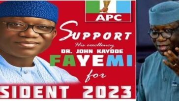 Governor Fayemi Reacts To His Viral 2023 Presidential Campaign Posters Sponsored By LG Boss 7