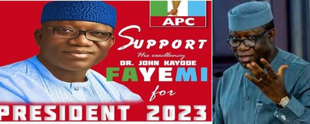 Governor Fayemi Reacts To His Viral 2023 Presidential Campaign Posters Sponsored By LG Boss 1
