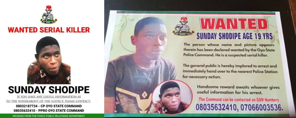 Police Places N500,000 Bounty On Suspected Serial Killer Who Escaped Prison, Sunday Shodipe 1