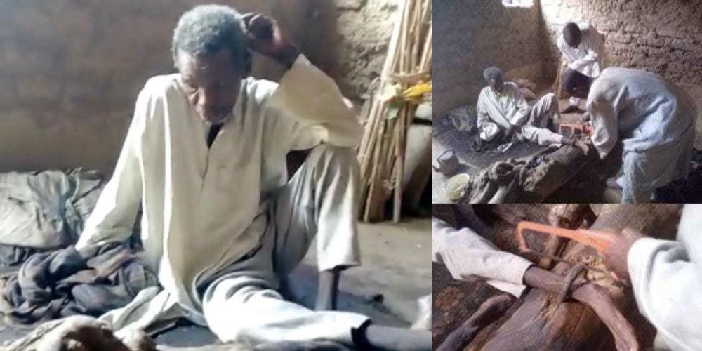 Police Rescues 55-Year-Old Man Locked Up For 30 Years By His Family In Kano State [Video] 1