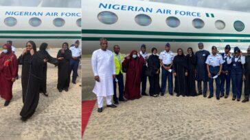 Aisha Buhari Escapes Plane Crash While Returning To Nigeria After Medical Trip In Dubai 5