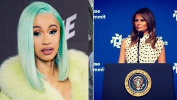 Cardi B Shares Complete Naked Photo Of Melania Trump After Political Correspondent Slammed Her 26