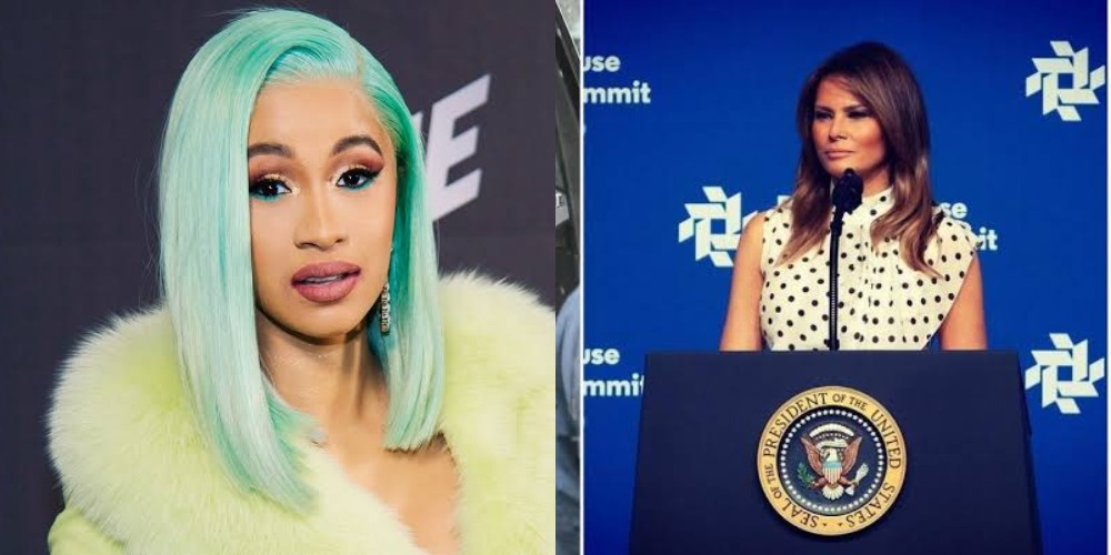 Cardi B Shares Complete Naked Photo Of Melania Trump After Political Correspondent Slammed Her 1